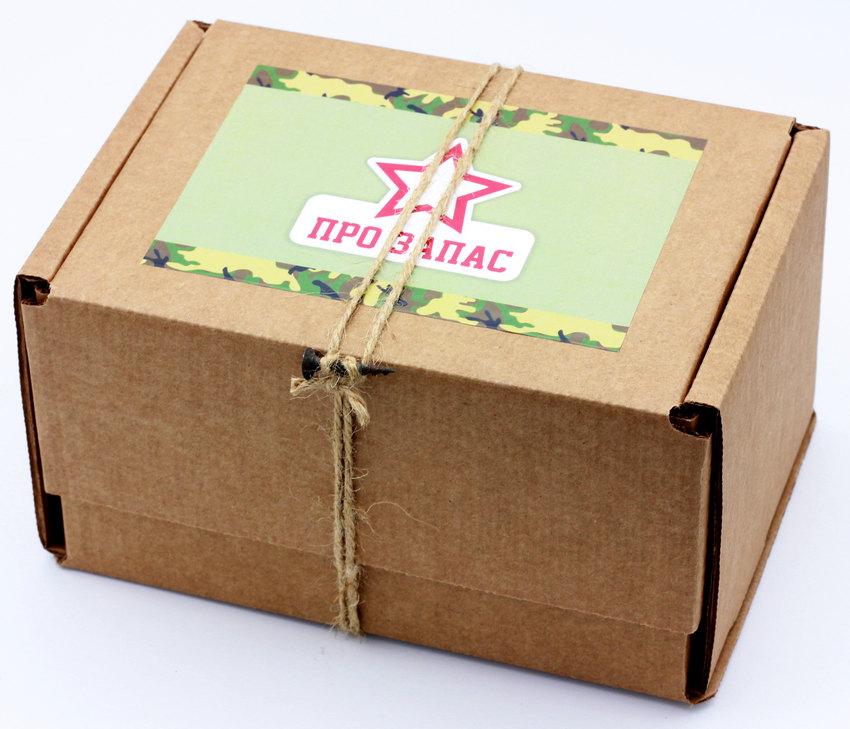 Подарочный набор Про запас: сгущенка, сушеная вишня, чай, галеты