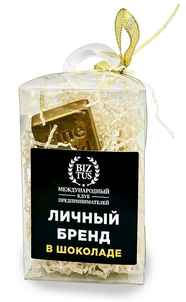 Шоколадный слиток золота в подарочной упаковке