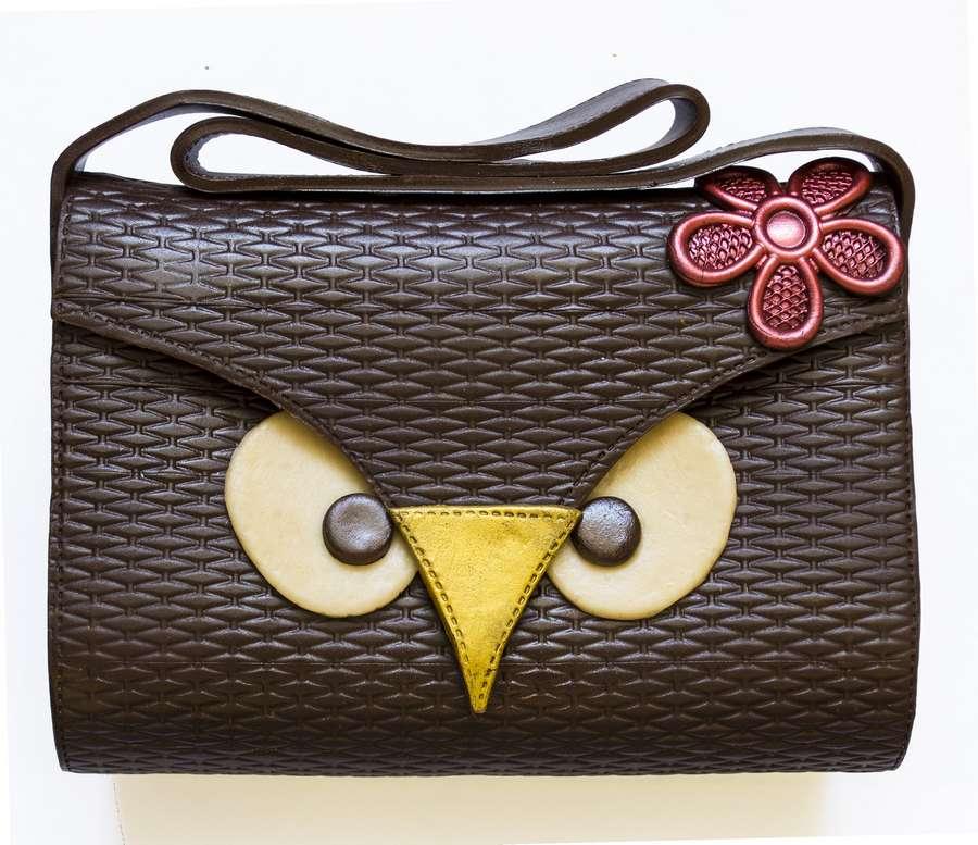 Сумочка-сова шоколадная