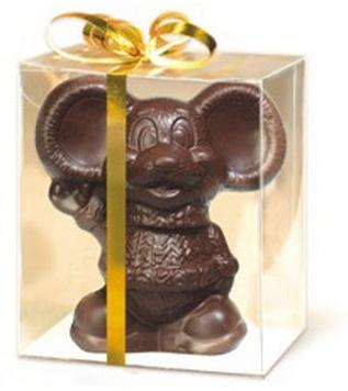 Фигурка мыши из шоколада