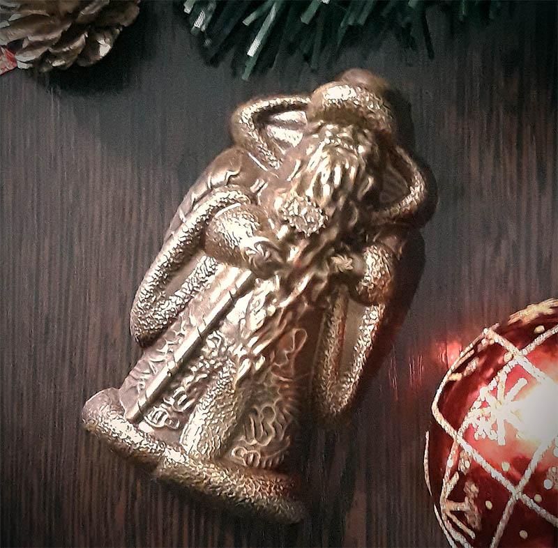 Дед Мороз из шоколада