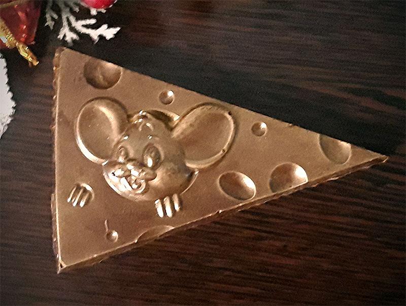 Шоколадная фигурка Мышь в сыре