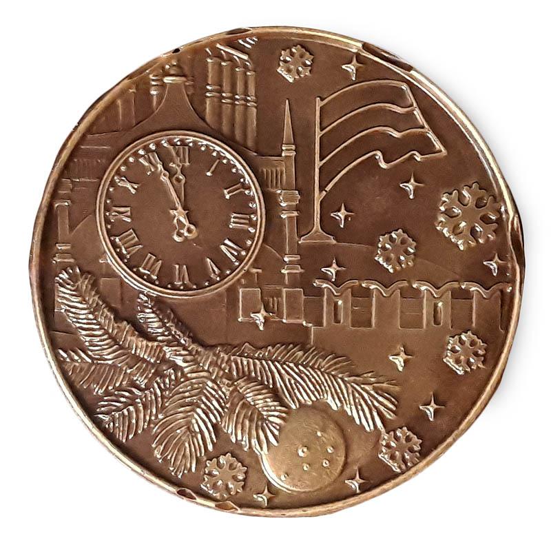 Шоколадная медаль с Красной площадью