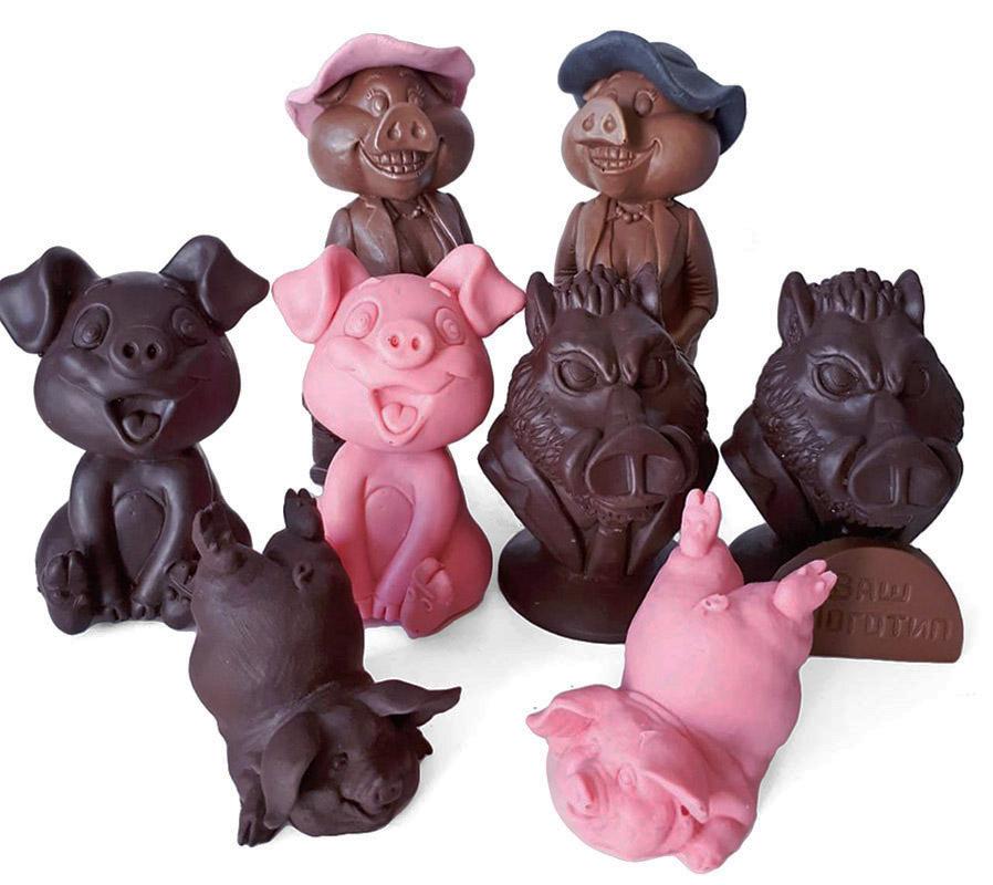 Шоколадная свинья, фигурка поросенка — символа 2019 года