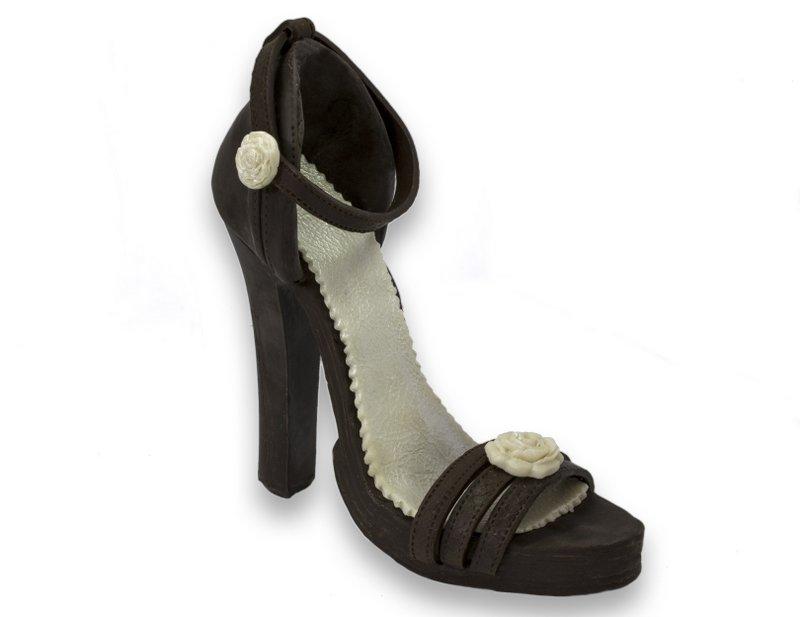 Шоколадная фигурка-туфелька