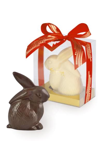 Фигурки пасхальных кроликов из шоколада