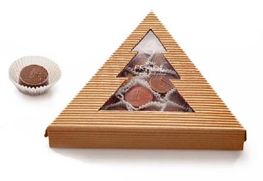 Подарочные конфеты в коробке-елочке