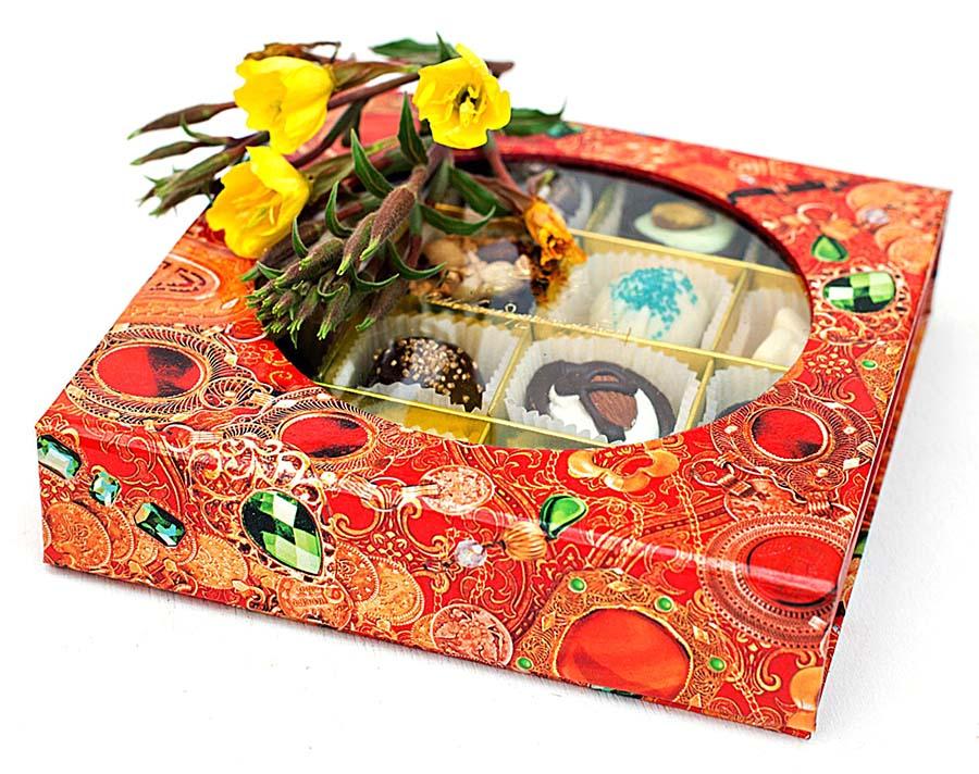 Подарочные конфеты в упаковке Ларец на магните