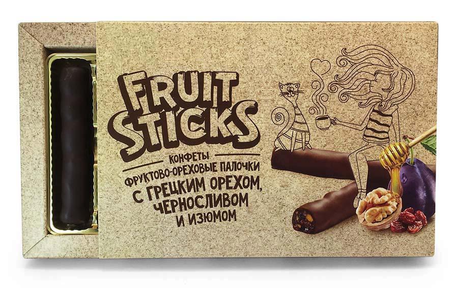 Фруктово-ореховые палочки в шоколадной глазури