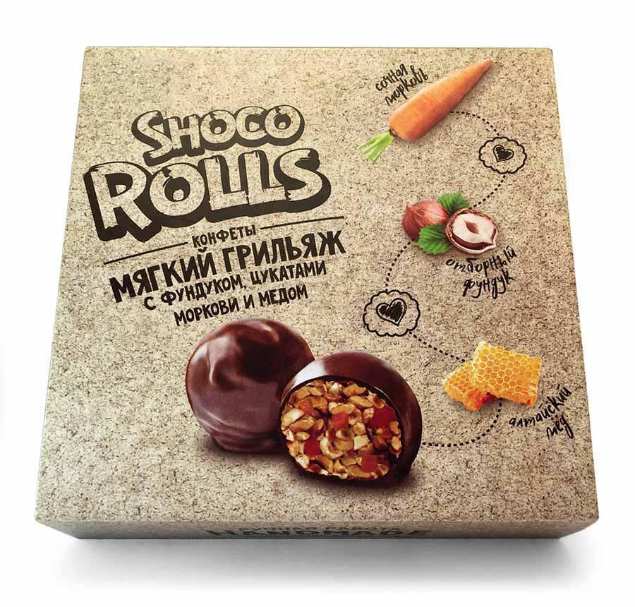 Круглые конфетки в шоколадной глазури