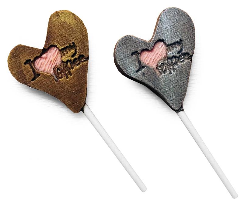 Шоколадные конфеты на палочке