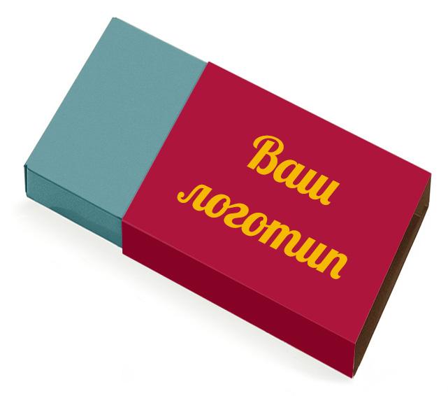Коробка конфет с шубером, на котором может быть размещен логотип вашей компании