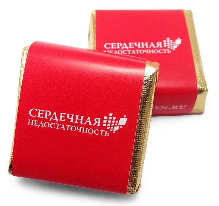 Корпоративные подарки на 8 марта - суфле, конфеты с логотипом