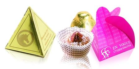 Конфеты в упаковках-треугольниках