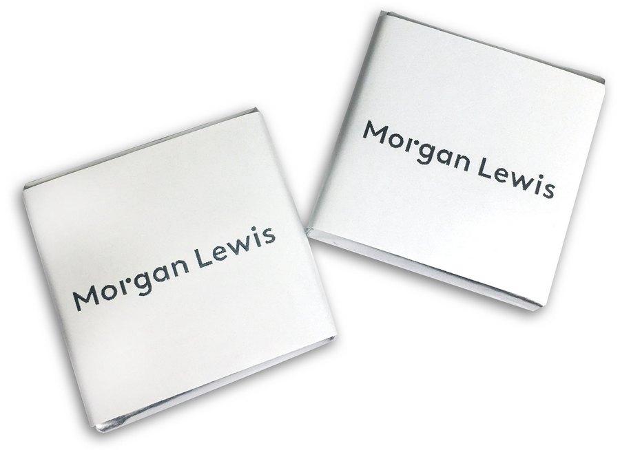 Шоколад 5 г с логотипом Morgan Lewis