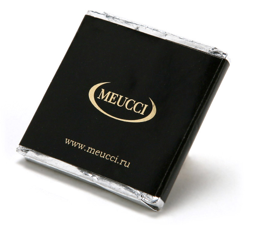Шоколад 5 г с логотипом Meucci