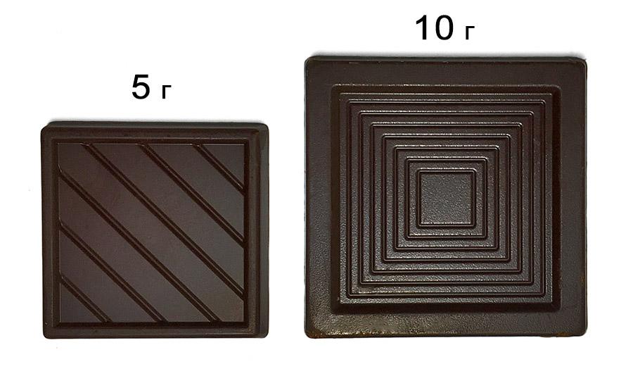 Шоколад 5 г и 10 г