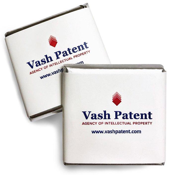 Шоколад 5 г с логотипом Vash Patent