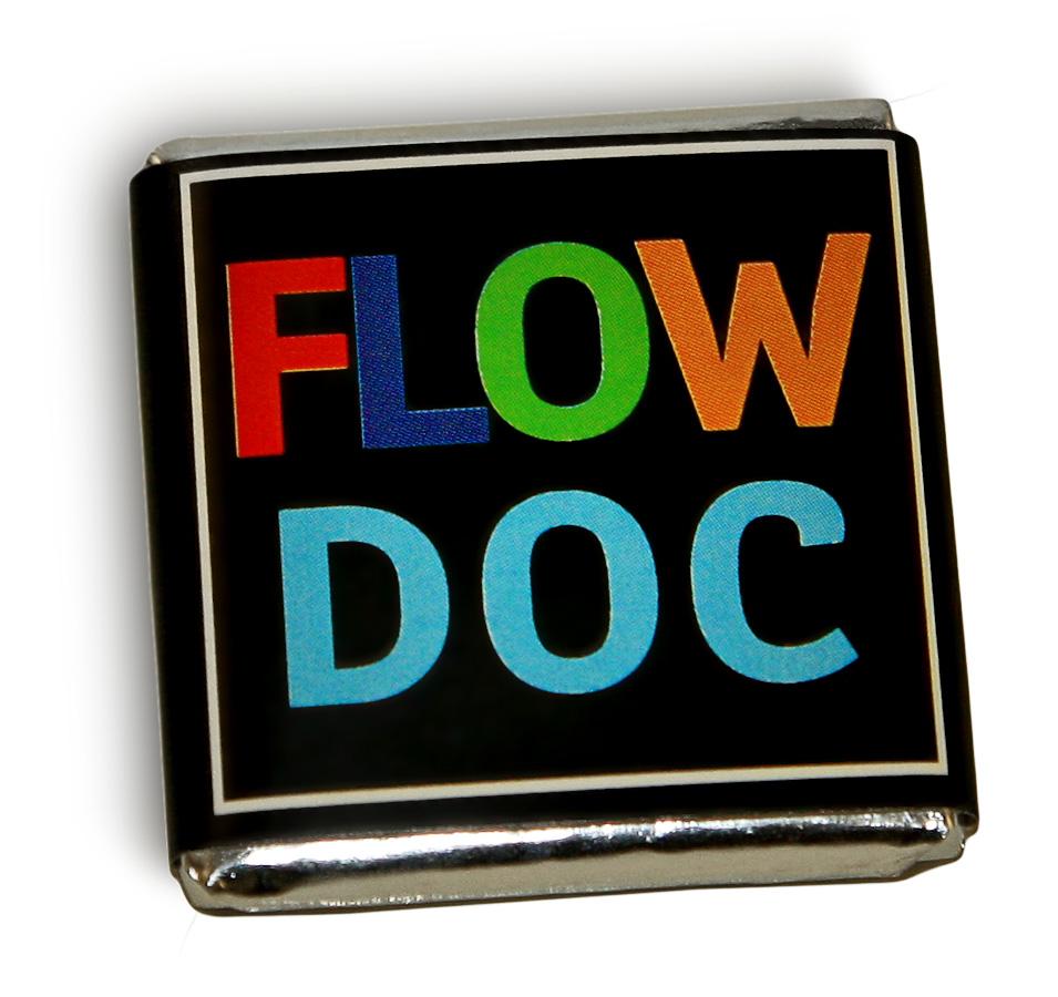Шоколад с надписью Flow Doc