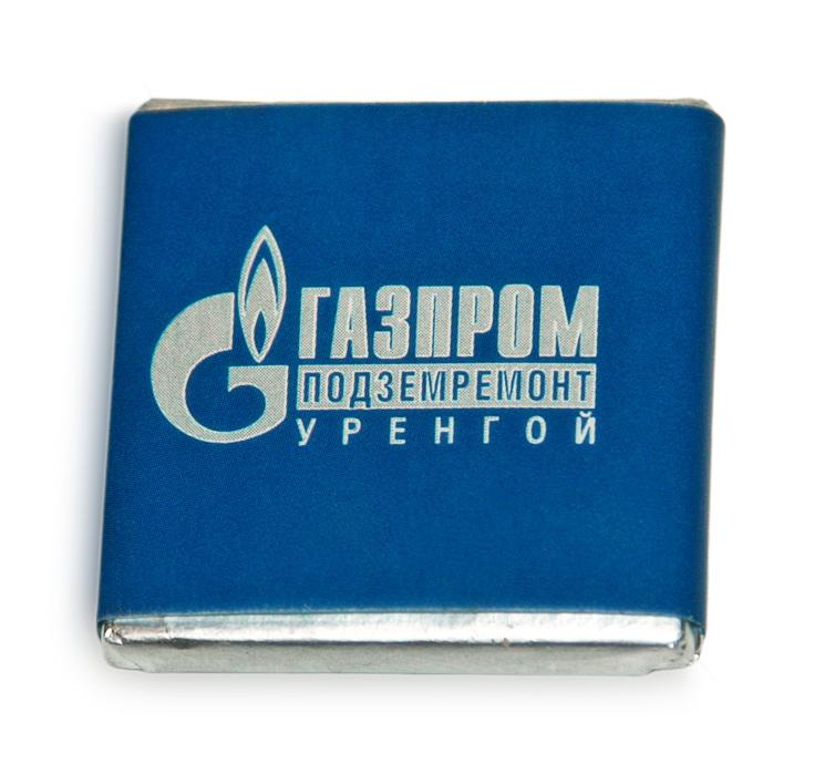 Шоколад с логотипом Газпром Подземремонт