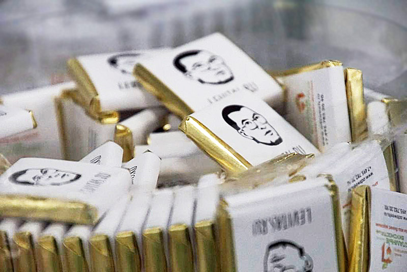 Шоколад 5 г с портретом Александра Левитаса