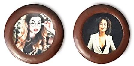 Шоколадные конфеты с печатью
