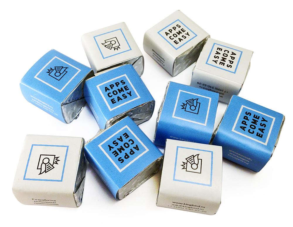 Кубики из шоколада