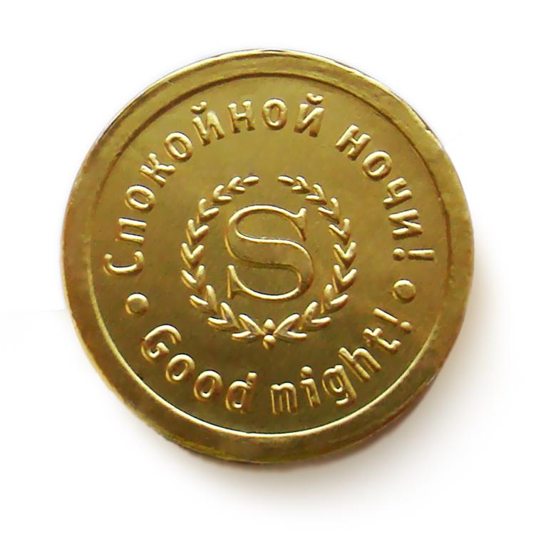 Монета из шоколада