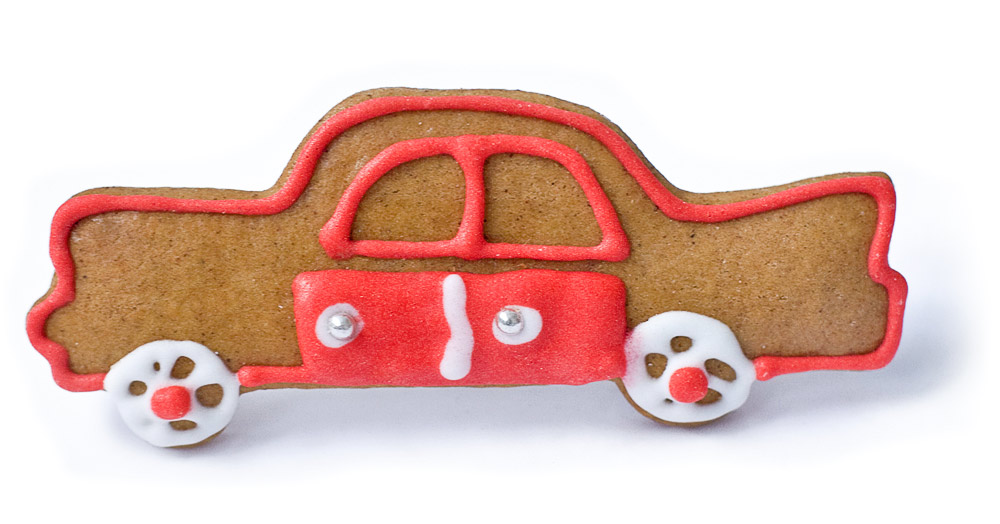 Печенье в форме авто