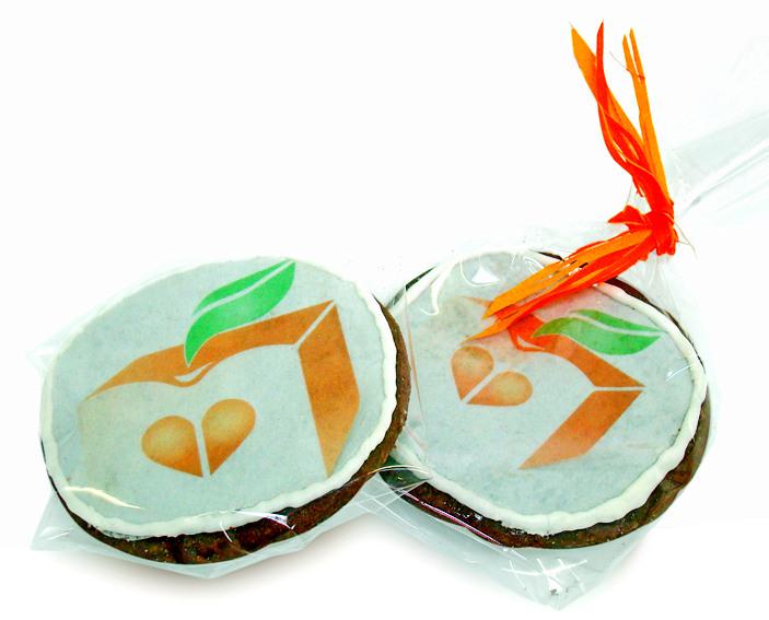 Печенье с полноцветной печатью на сахарной бумаге с логотипом ADSWEETS