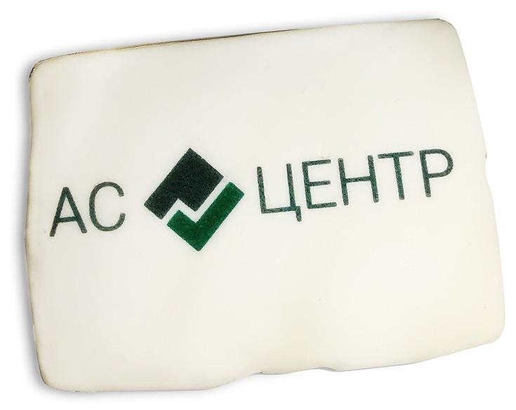 Печенье с печатью логотипа АС Центр
