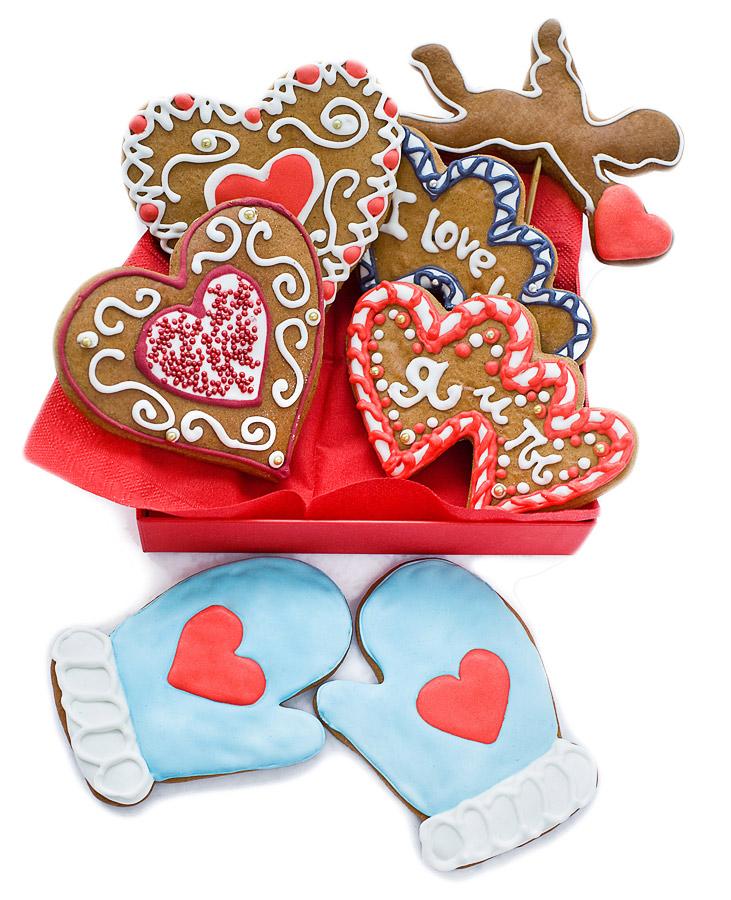 Печенье - съедобная валентинка
