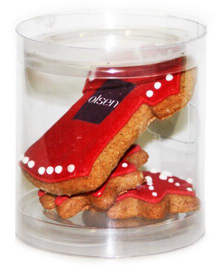 Печенье с логотипом Olsen в прозрачном тубусе