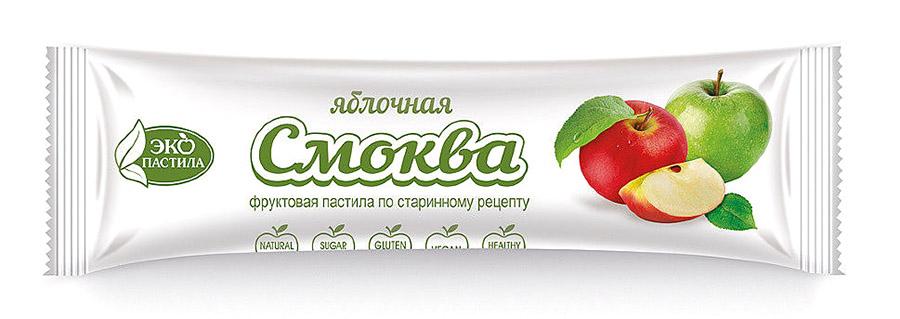 Яблочная пастила смоква в пакетиках с логотипом