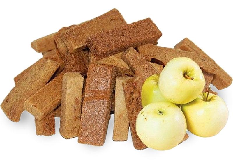 Яблочные пастильные сухарики с логотипом