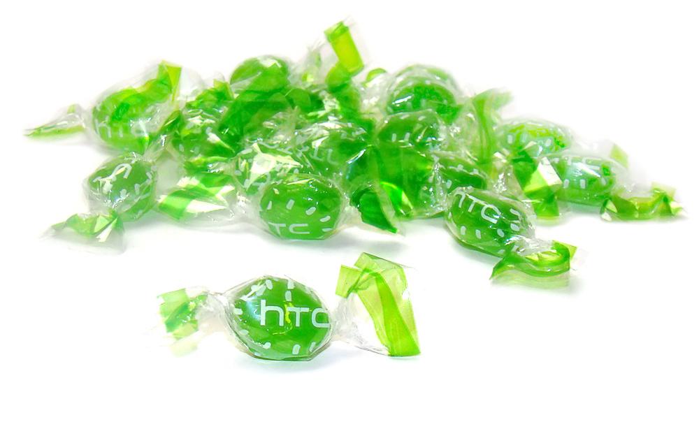 Леденцы мини в прозрачной завертке с логотипом HTC