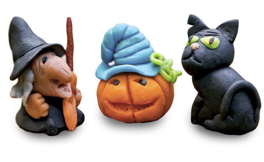 Марципановые фигурки к Хэллоуину