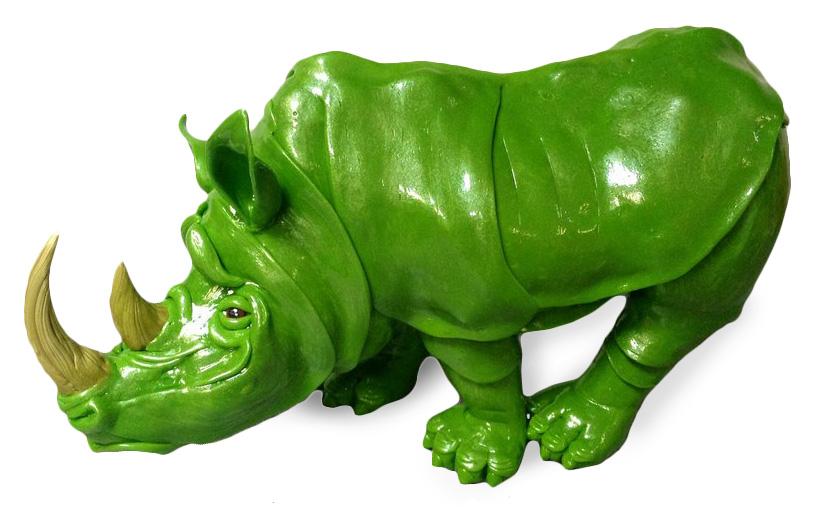 Фигурка носорога из карамели