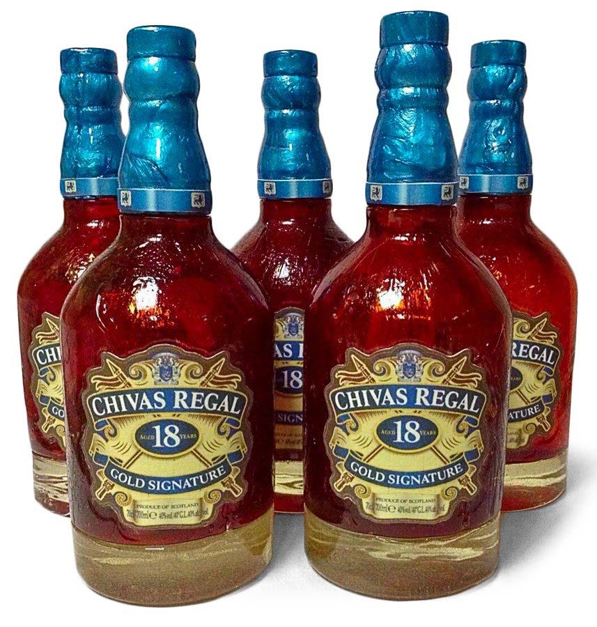 Карамельные бутылки виски