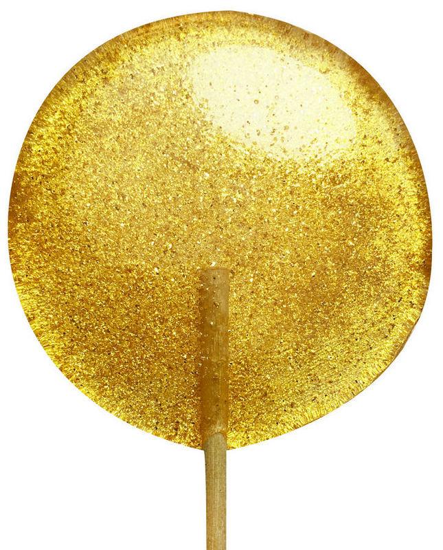 Леденец с золотистым металлическим блеском
