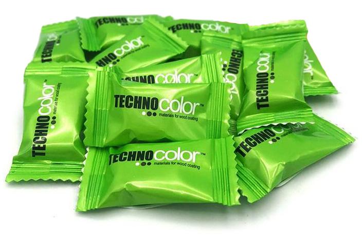 Карамель во флоу-паке с логотипом Technocolor