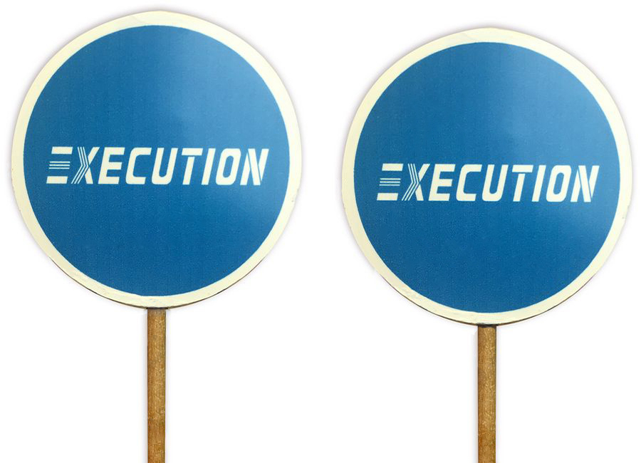 Шоколадные конфеты на палочке с печатью логотипа Execution