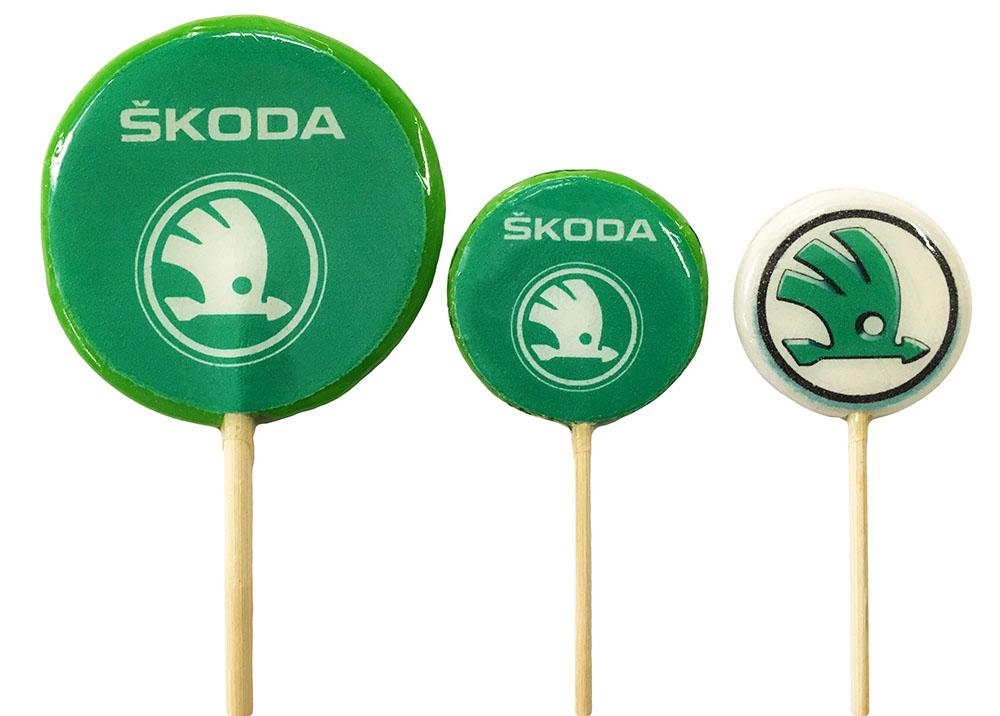 Леденцы с логотипом SKODA