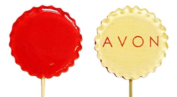 Леденец на палочке с логотипом Avon