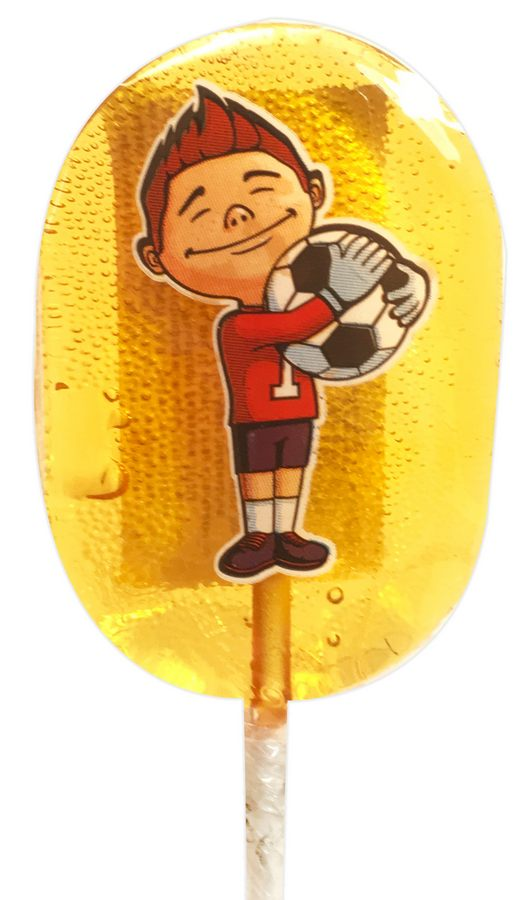 Леденец-футболист на палочке