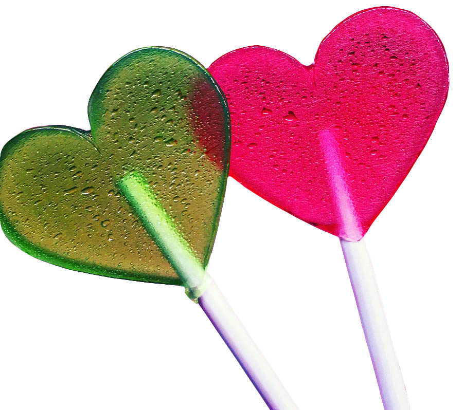 Леденцы в форме сердца