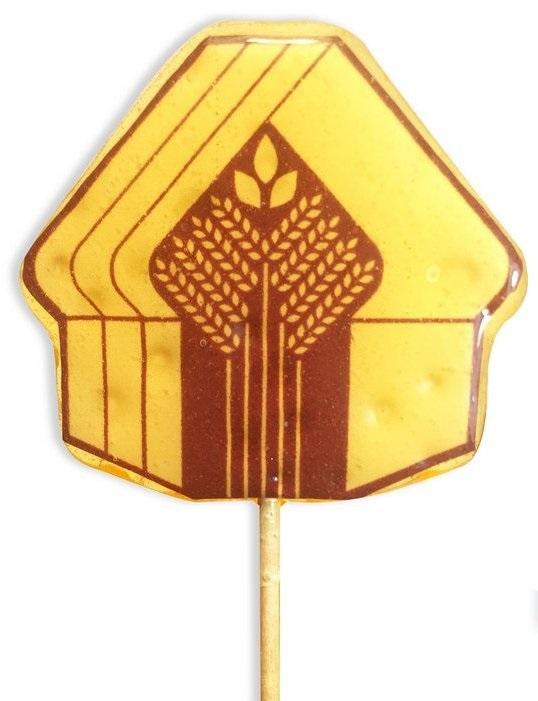Леденец-домик на палочке