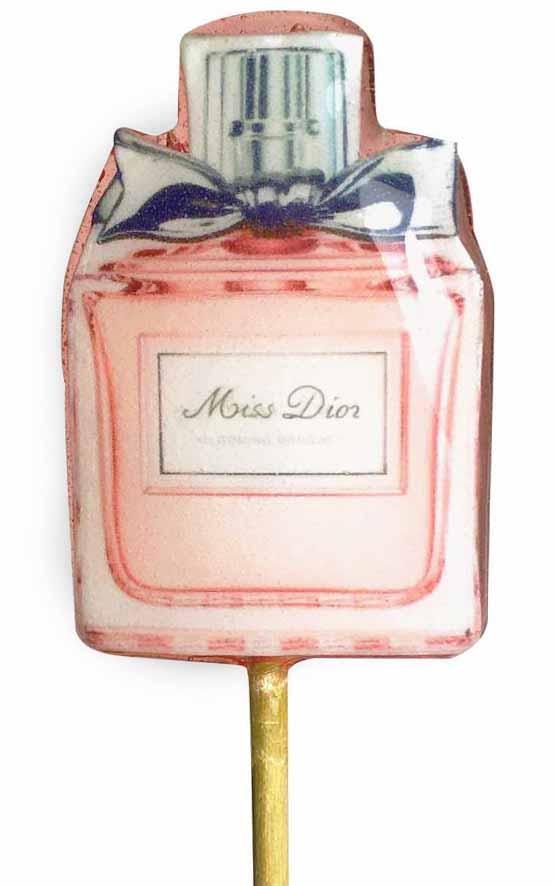 Леденец-флакон духов Miss Dior
