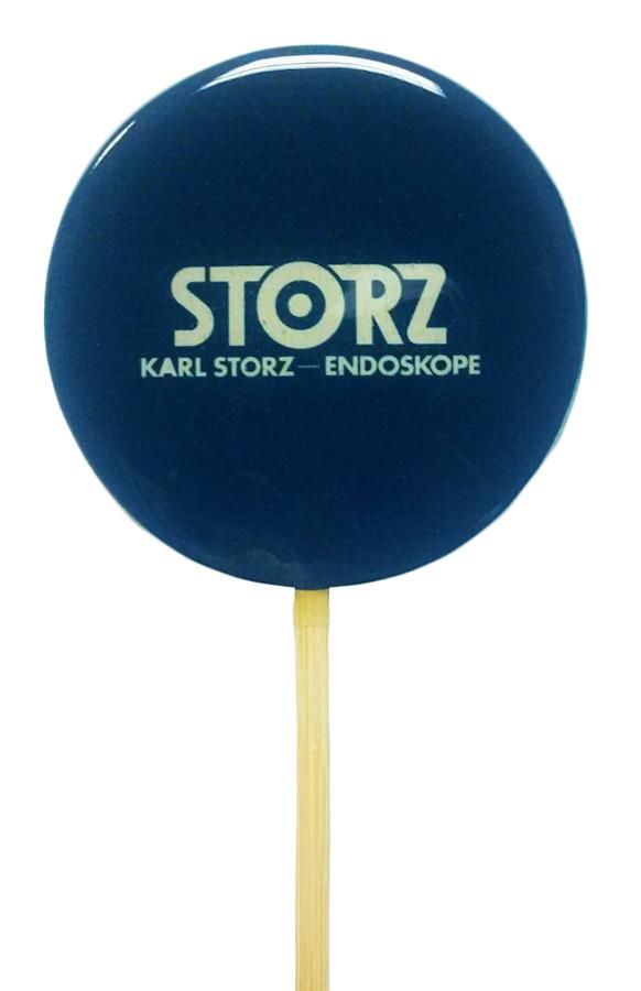 Леденец 10 см на палочке с логотипом Storz