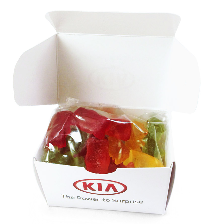 Мармеладные мишки в упаковке с логотипом